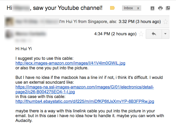 Youtube-Email